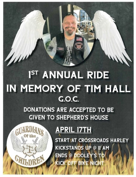 1st Annual Ride in Memory of Tim Hall G.O.C