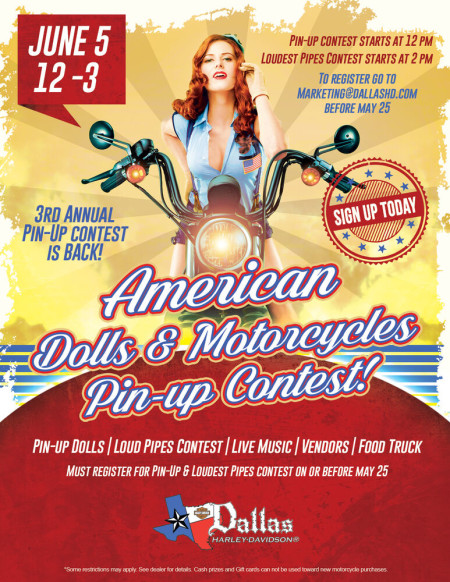 Dallas H-D® 3rd Annual Pin-Up contest is BACK!