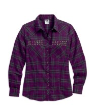 Studded Purple Flannel Shirt