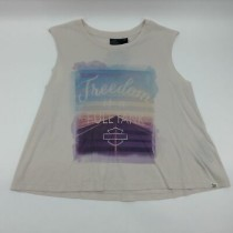 Raw-Edge Freedom Sleeveless Tee