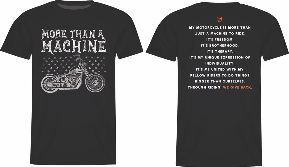 A black t-shirt with a bicycle on it  Description automatically generated with medium confidence