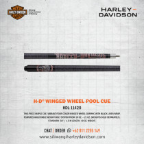 H-D Winged Wheel Pool Cue