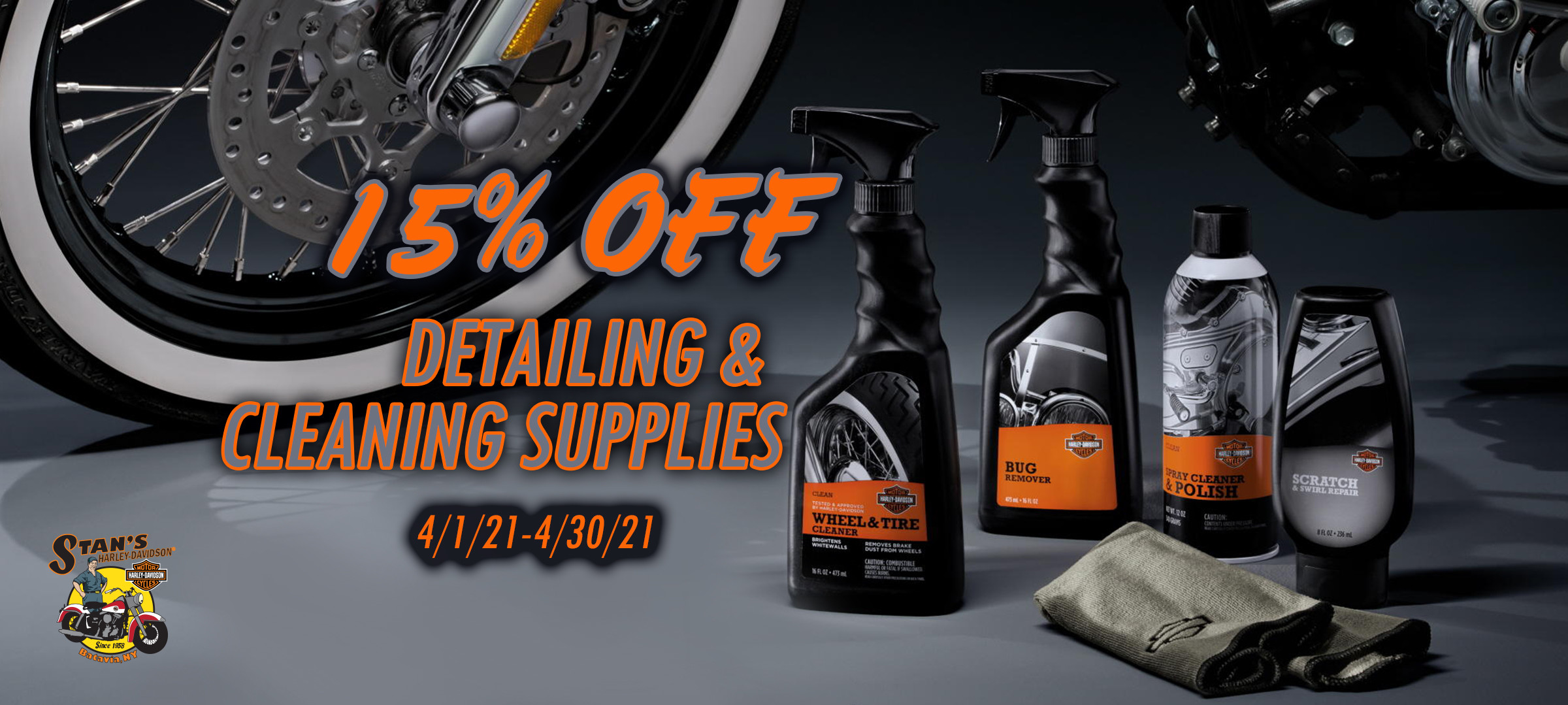 15 off cleaners and detailers