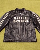 JACKET-LEATHER,BLACK