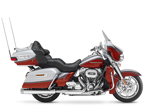 Stardust Silver and Autumn Sunset 2014 Harley-Davidson® CVO™ Electra Glide Ultra Limited® FLHTKSE