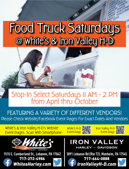 Food Truck Saturdays @ White's - Wich Way Sandwiches & Scoop Ó Dough