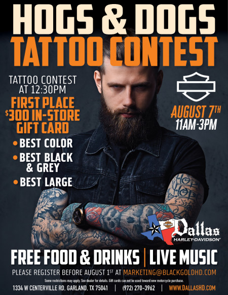 Hogs & Dogs Tattoo Contest