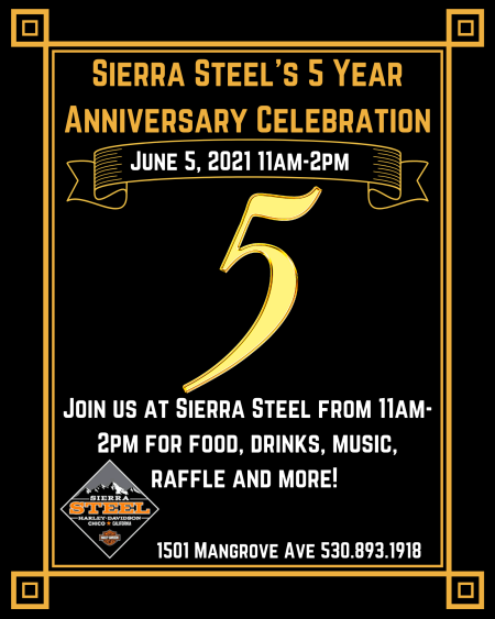 Sierra Steel Five Year Anniversary Celebration