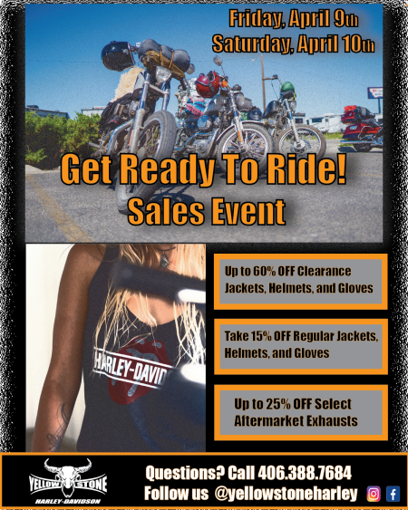 Get Ready To Ride Sale