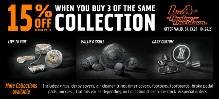 15% Off H-D Collections