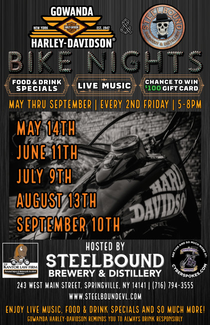 Gowanda Harley-Davidson® Bike Night at Steelbound!