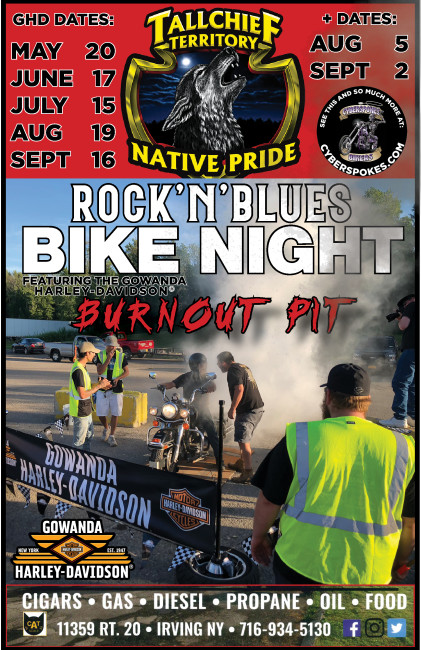 Native Pride Rock'n'Blues Bike Night featuring the Gowanda Harley-Davidson® BURNOUT PIT!