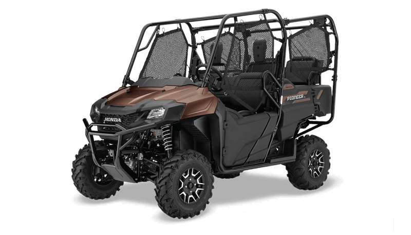 2021 Honda Powersports Pioneer 700-4 Deluxe Matte Molasses Brown