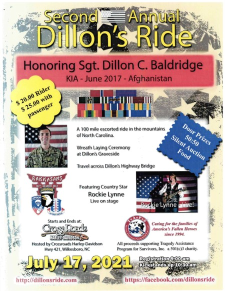 Second Annual Dillion's Ride