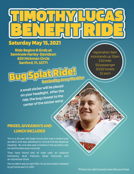 Timothy Lucas Benefit Ride
