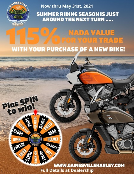 May Promos! Summer Riding Season is Almost Here!