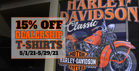 15% OFF DEALERSHIP T-SHIRTS