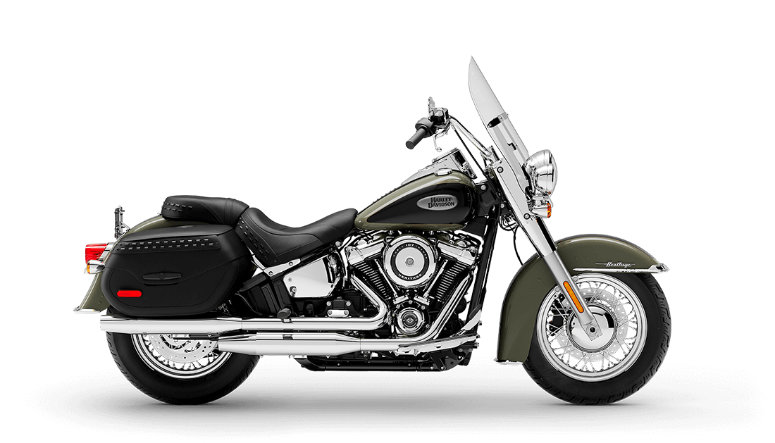 2021 Harley-Davidson® Heritage Classic 107 Deadwood Green / Vivid Black